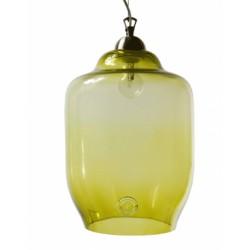 Szklana lampa wisząca duża GIE EL - oliwkowa