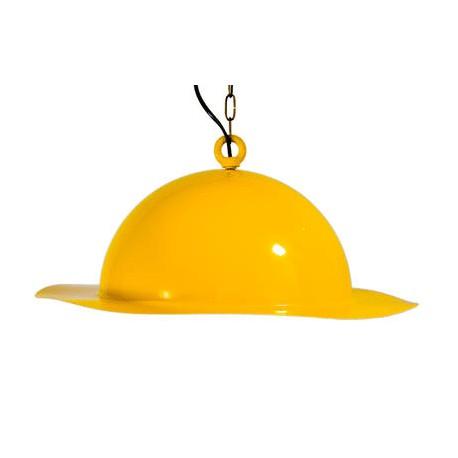 Stalowa lampa wisząca GIE EL duża - żółta