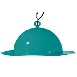 Stalowa lampa wisząca marki GIE EL duża – turkusowa