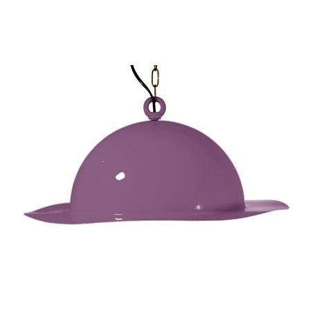 Stalowa lampa wisząca marki GIE EL duża – fioletowa