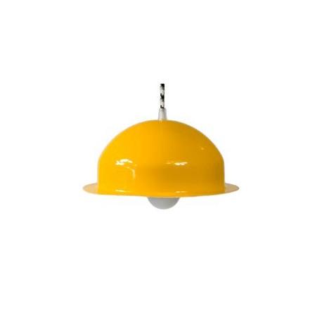 Stalowa lampa wisząca marki GIE EL mała – żółta