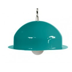 Stalowa lampa wisząca marki GIE EL mała – turkusowa