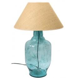 Lampa stołowa marki GIE EL  - turkusowa