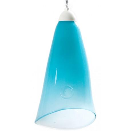 411. Szklana lampa wisząca  GIE EL– pastelowy turkus