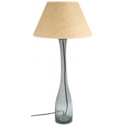 Lampa stołowa szara z abażurem – GIE EL