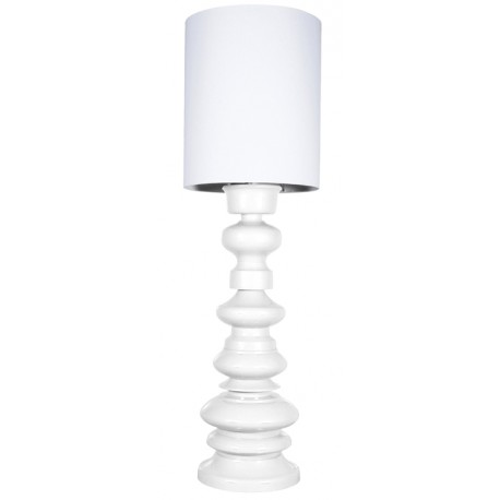 Biała lampa podłogowa LOFT - HK LIVING
