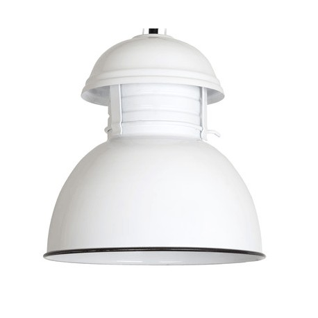 Biała lampa metalowa Warehouse M - HK Living