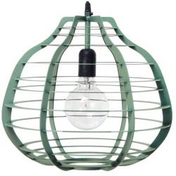 Duża lampa industrialna LAB xl w kolorze zielonym.