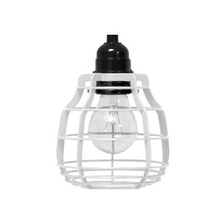 Biała lampa z włącznikiem LAB - HK Living