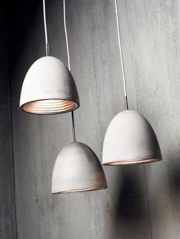 Lampy z betonu