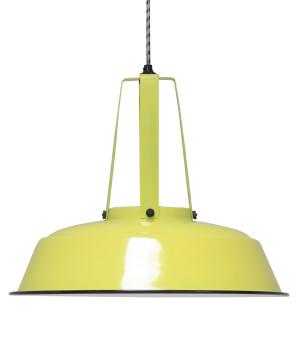 Industrialna żółta lampa