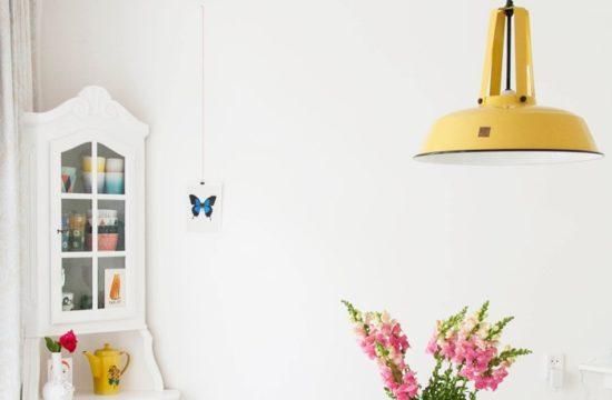 Energetyczna żółta lampa