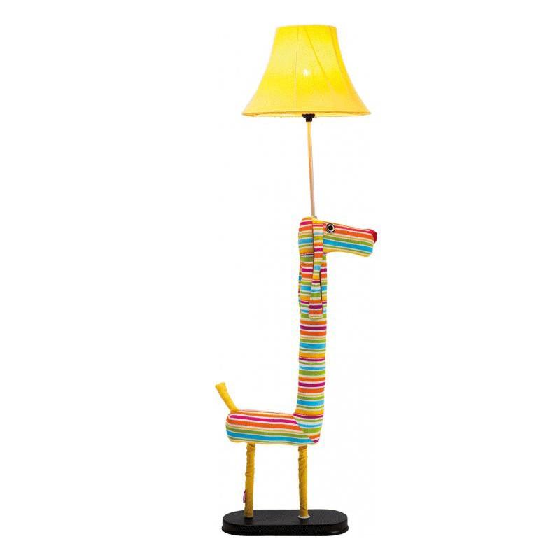 Oryginalna żółta lampa podłogowa