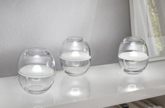 Szklane lampy