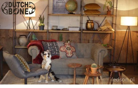 Stojąca lampa drewniana - Woodland Dutchbone